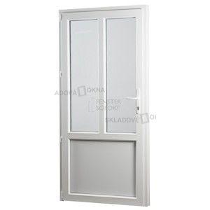 Vedlejší vchodové dveře PREMIUM, levé, 880 x 2080 mm, barva bílá sklo ornament kůra