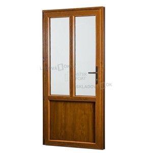Vedlejší vchodové dveře PREMIUM, levé, 980 x 2080 mm, barva bílá/zlatý dub