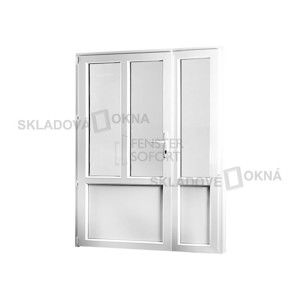 Vedlejší vchodové dveře dvoukřídlé, levé, PREMIUM, 1380 x 2080 mm, barva bílá