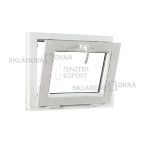 Sklopné plastové okno PREMIUM, 600 x 550 mm, barva bílá