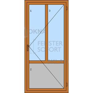 DOPRODEJ! Vedlejší vchodové dveře jednokřídlé, OBOUSTRANNÝ ZLATÝ DUB, pravé, PREMIUM
